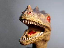 Cut-down-on-plastic dinosaur