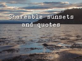 Sunsets and quotes feature landscape